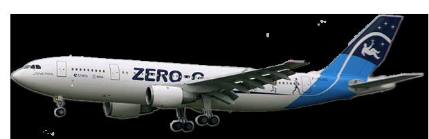Airbus A300 ZERO-G en vol. Crédits : CNES/PEDOUSSAUT Manuel, 2008