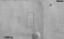 Exomars - image de Schiaparelli par MRO après l'atterrissage