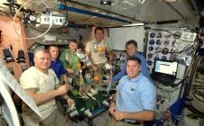 Thomas Pesquet dans la Cupola de la Station spatiale internationale lors de sa mission Proxima
