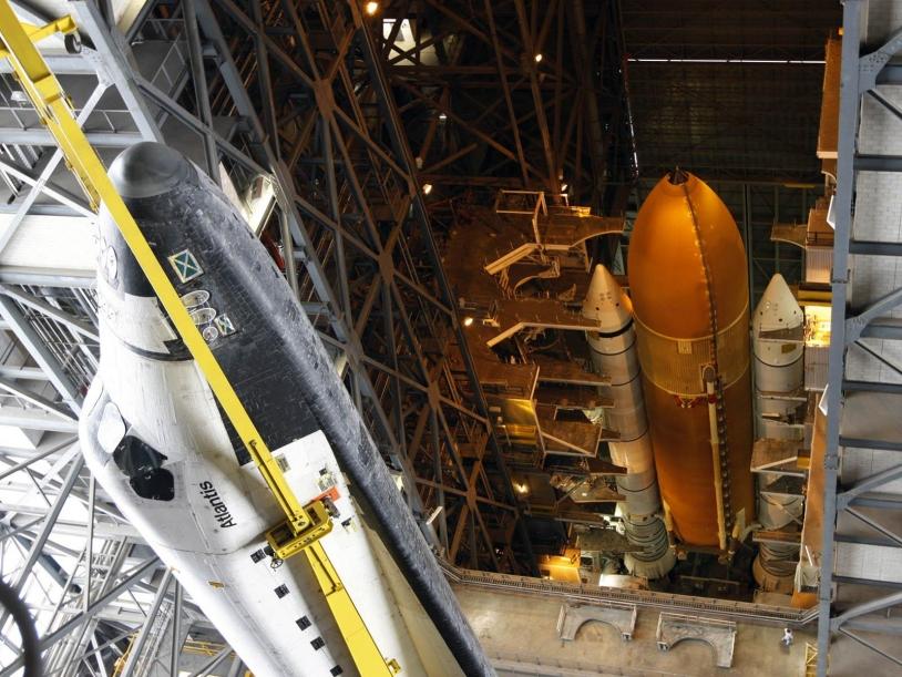 La navette Atlantis emmenera 7 astronautes pour la dernière mission d'entretien de Hubble. Crédits : NASA.