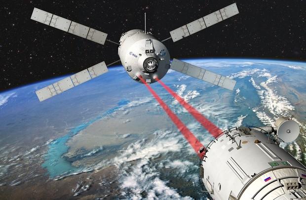 L'amarrage de l'ATV-3 à la station spatiale internationale aura lieu dans la nuit du 18 au 19 mars. Crédits : ESA/D.Ducros 2010.